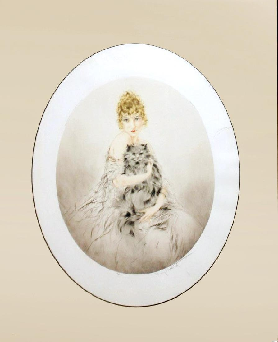 "Louis Icart ""Persian Cat"""