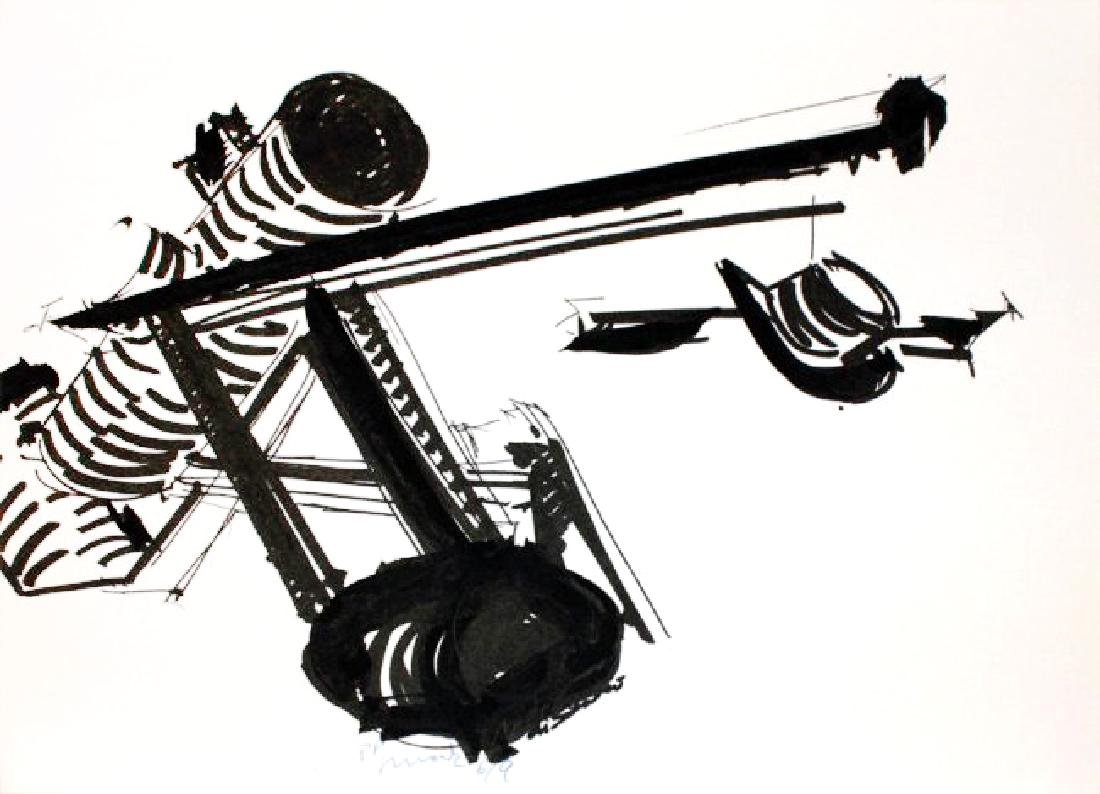 "Mark Di Suvero, one plate from ""The New York Collection"