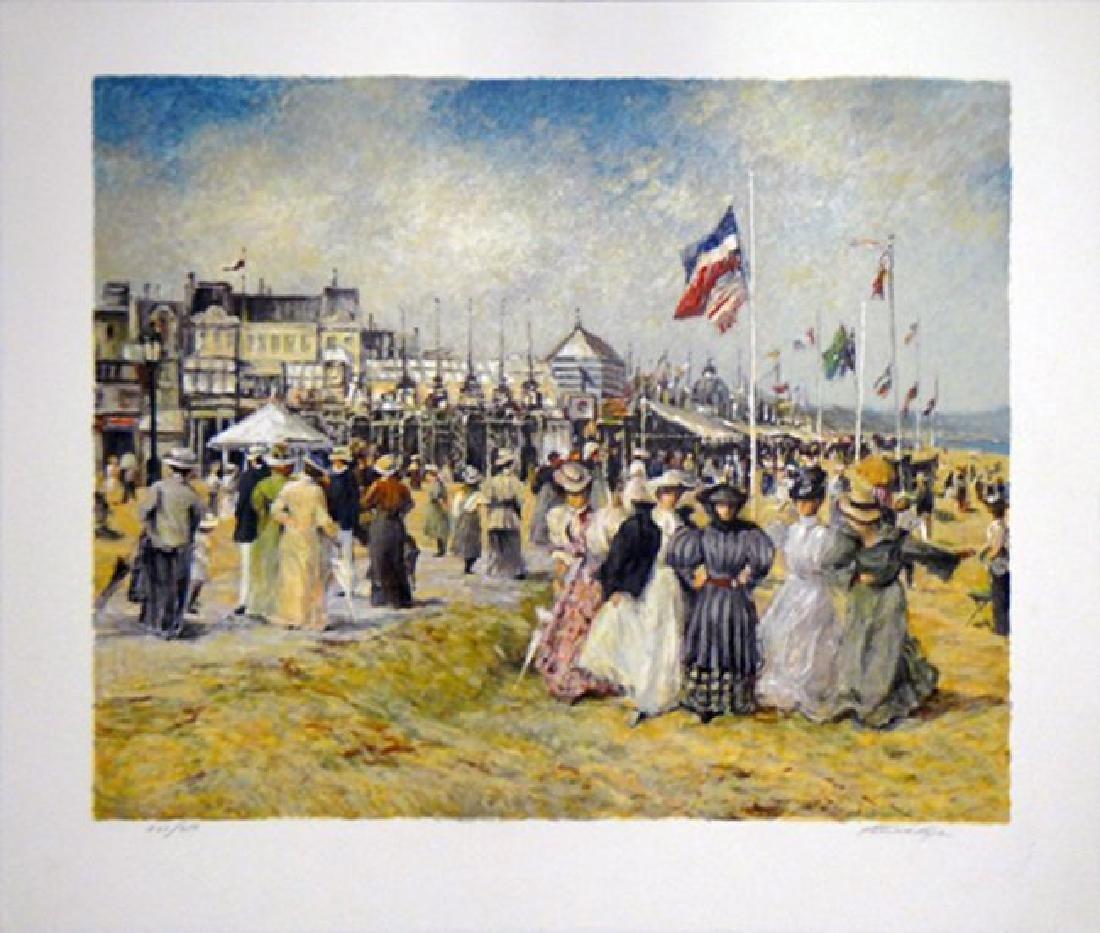 """Patrick Ryan (Henri Plisson) """"Beach at Trouville"""" - 2"""