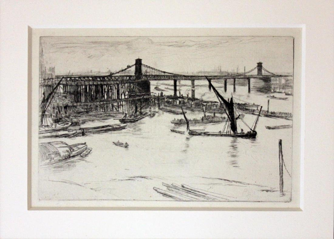 "James Abbott McNeill Whistler ""Old Hungerford Bridge"""