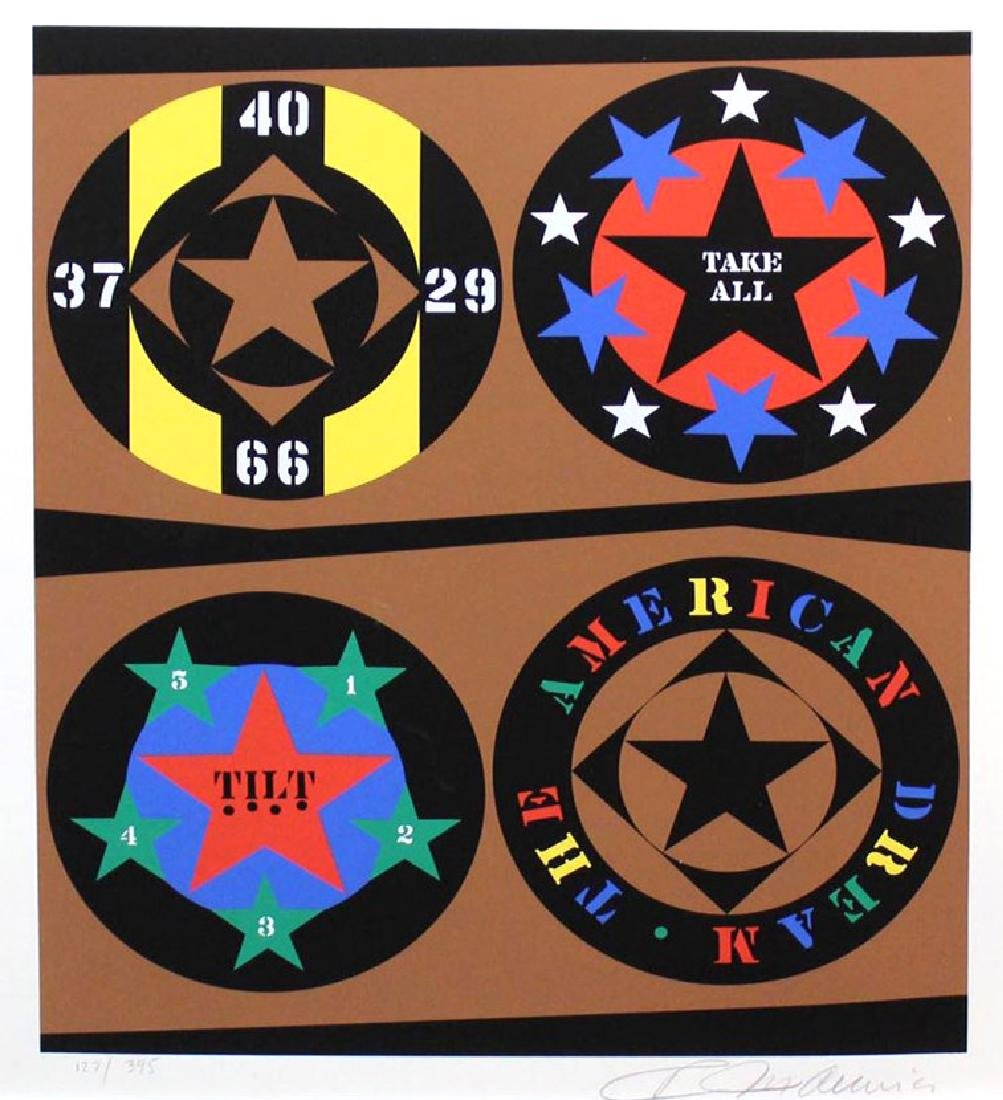 "Robert Indiana ""Tilt from The American Dream"