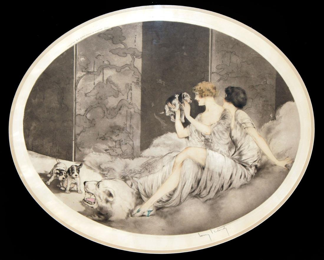 Louis Icart - Puppies