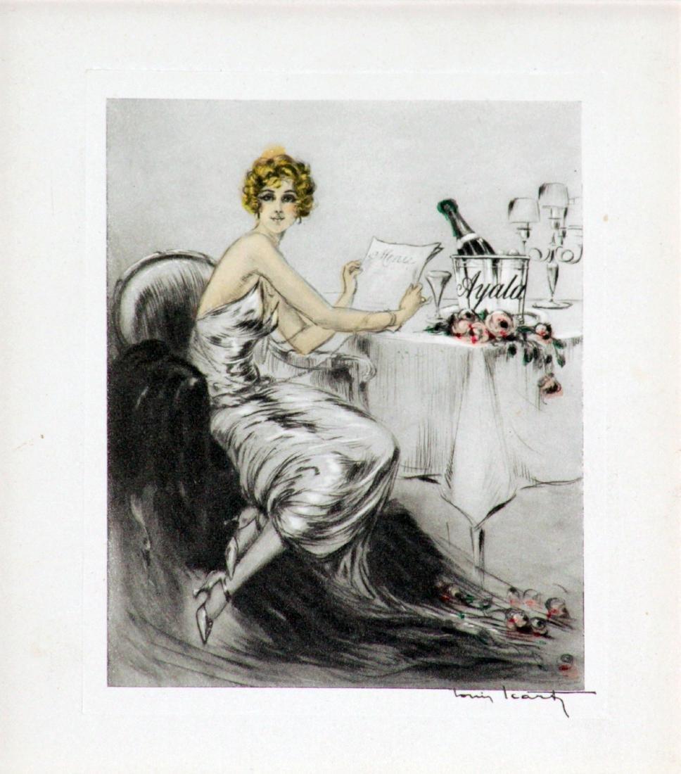 Louis Icart - Ayala Champagne Greeting Card