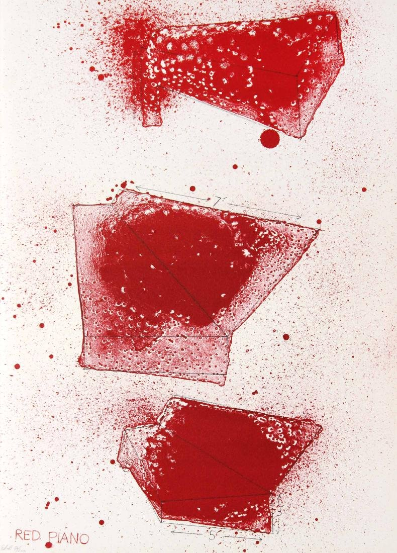 Jim Dine - Red Piano