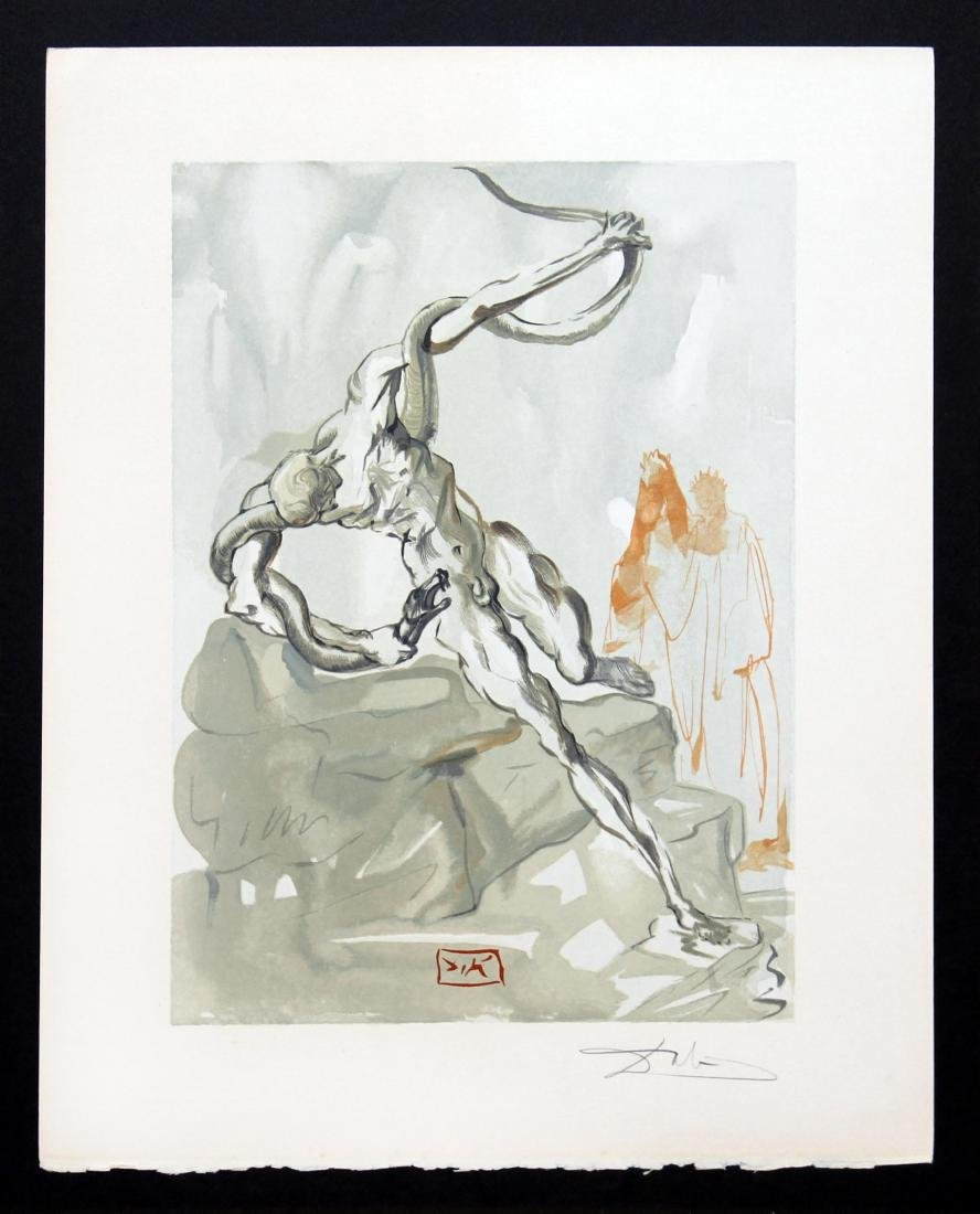 Salvador Dali - The Punishment of Vanni Fucci, Hand