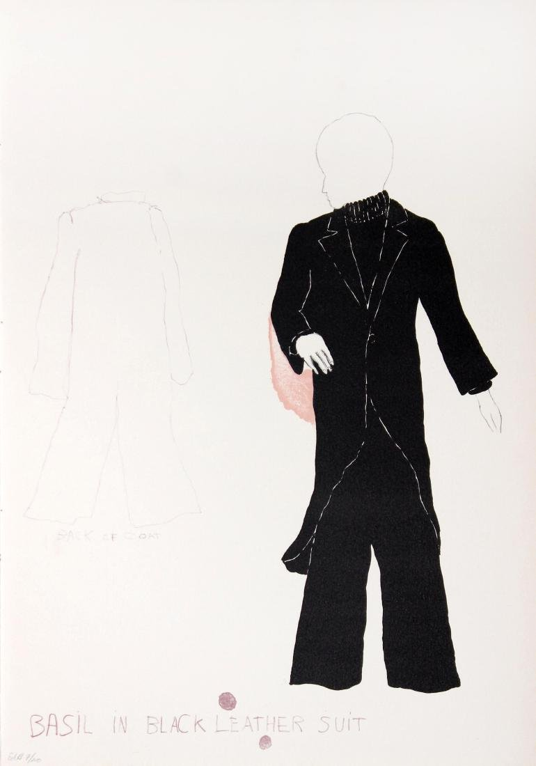 Jim Dine - Basil in Black Leather Suit