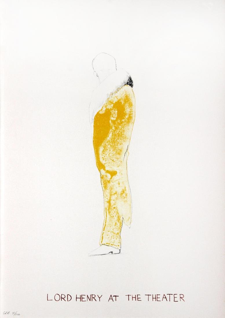 Jim Dine - Lord Henry at the Theater