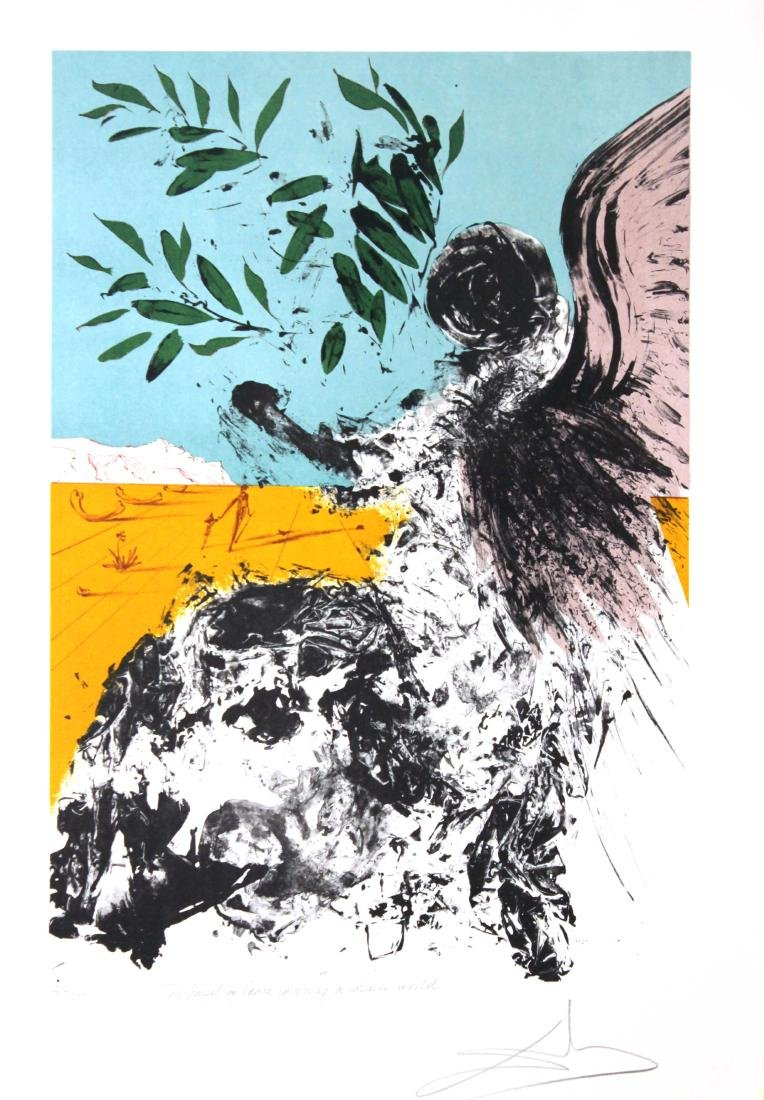 Salvador Dali - Angel of mercy Covering a Calmer World
