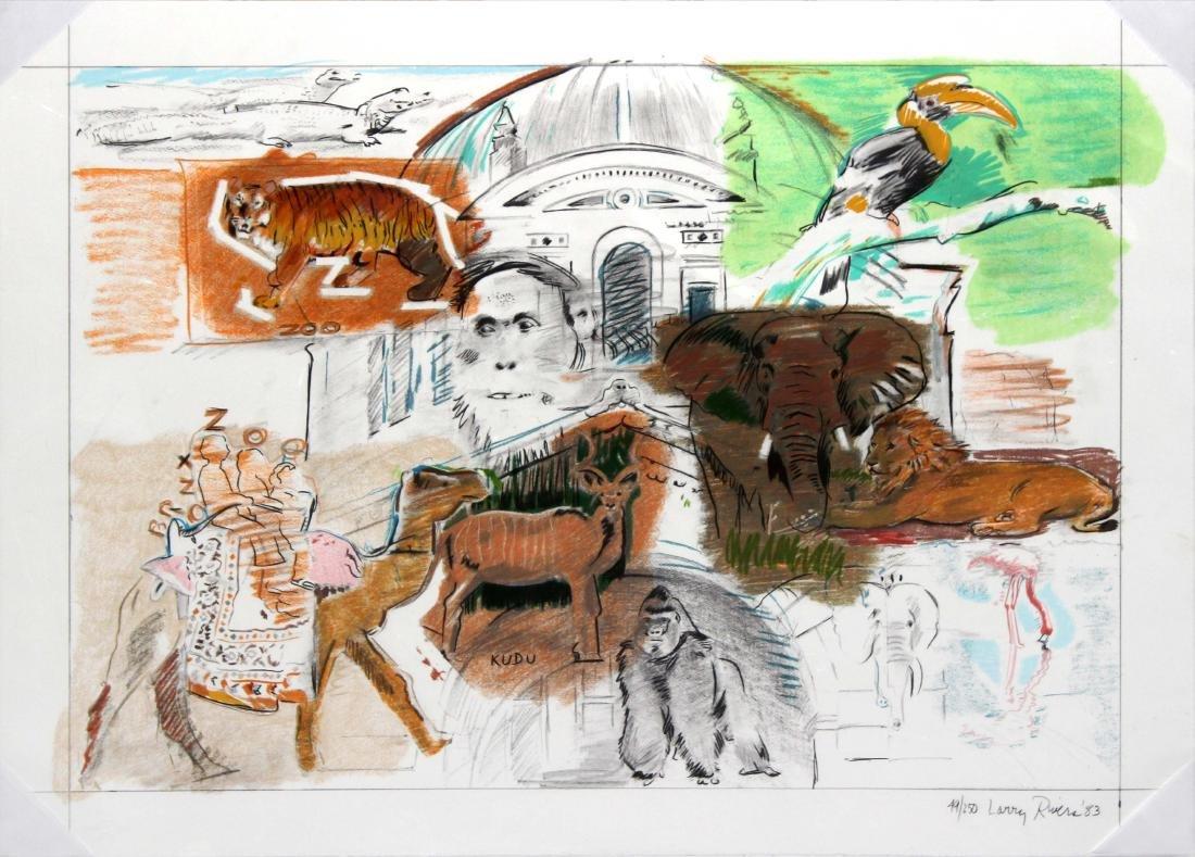 "Larry Rivers ""New York - Bronx Zoo"""