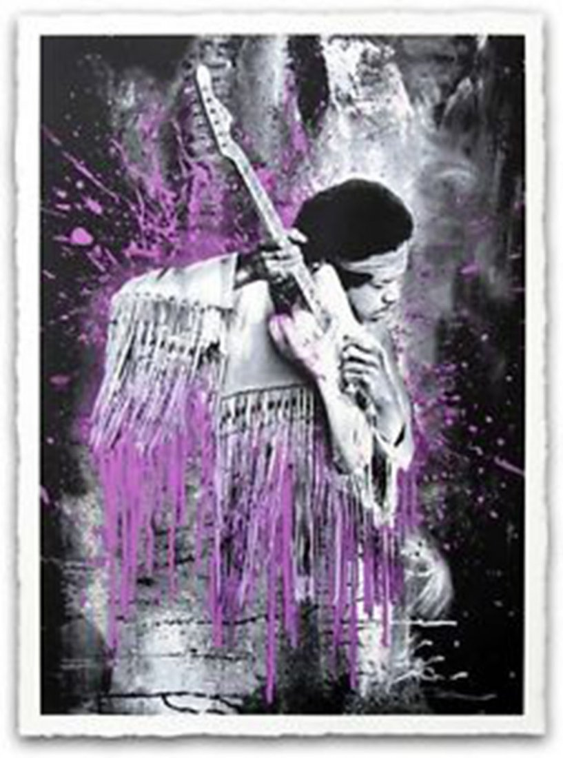 Mr. Brainwash - Hendrix (Purple)