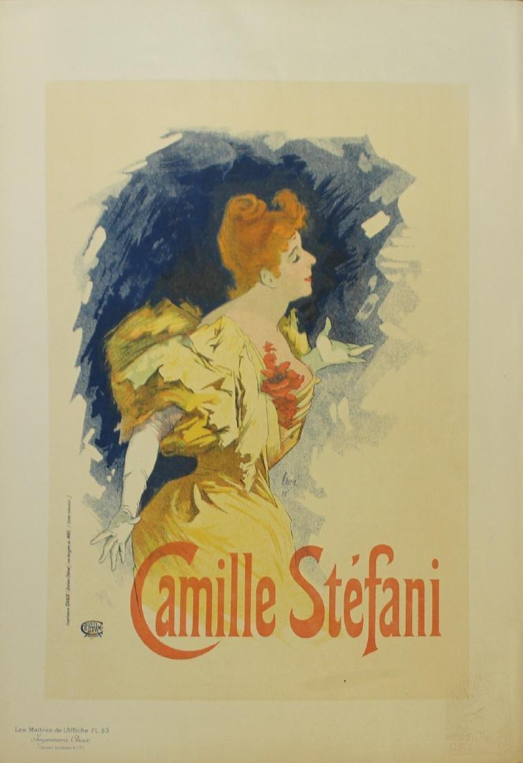 """Jules Cheret """"Camille Stefani"""" vintage poster"""