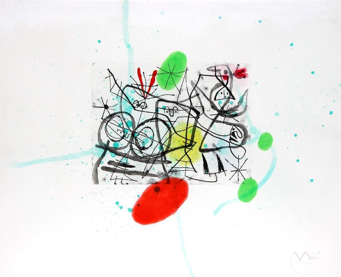 Preparatifs d'Oiseaux III by Joan Miro