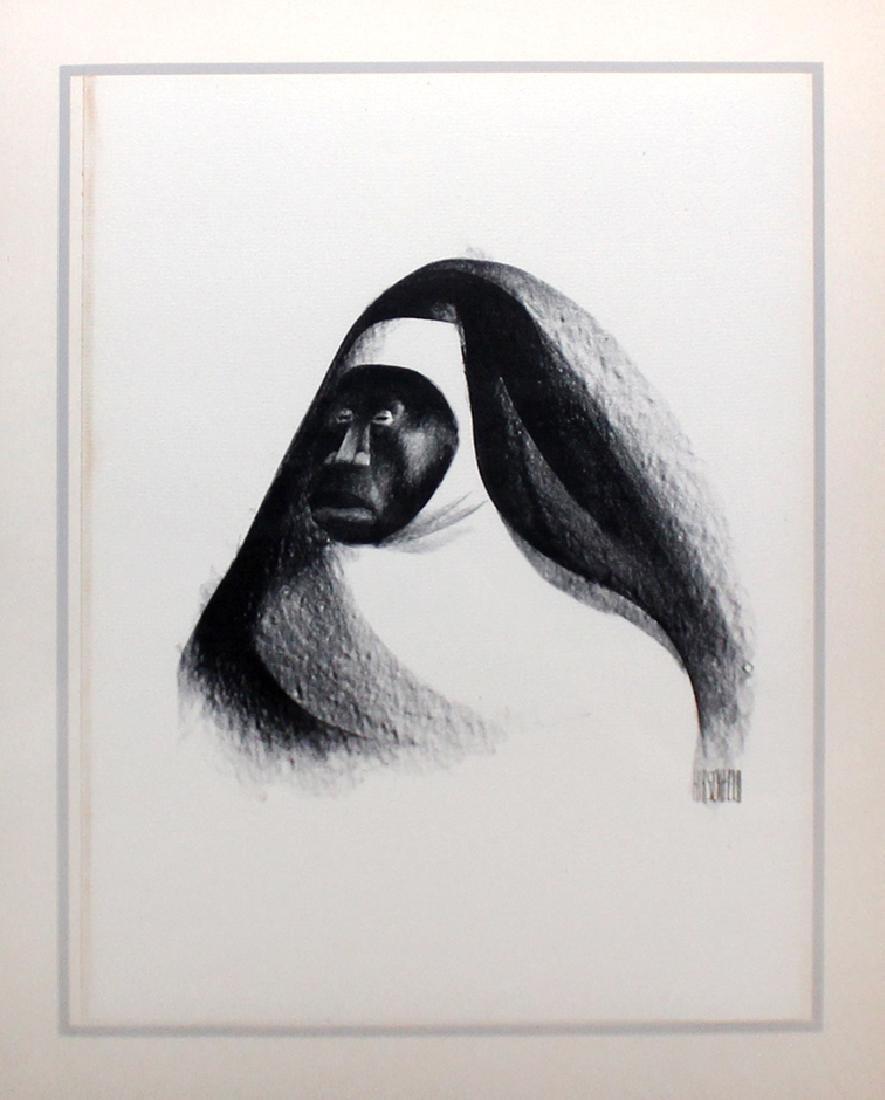 """Al Hirschfeld """"Ebony Sister,"""" from """"Harlem"""" Portfolio"""