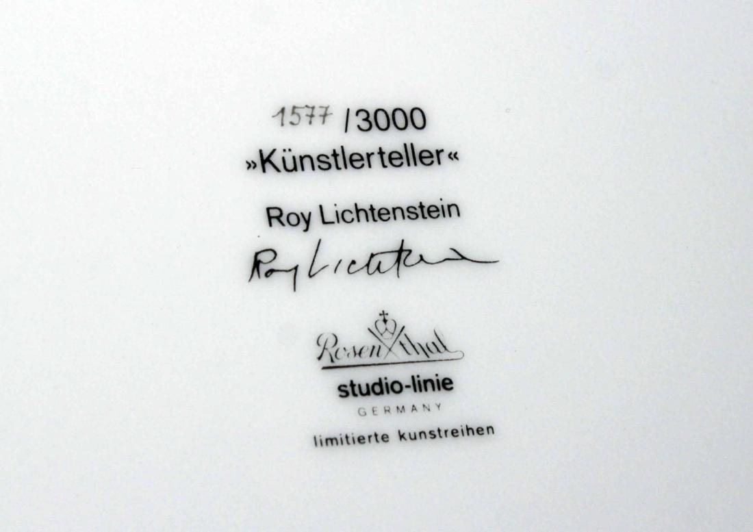 Roy Lichtenstein - Water Lillies Porcelain Plate - 3