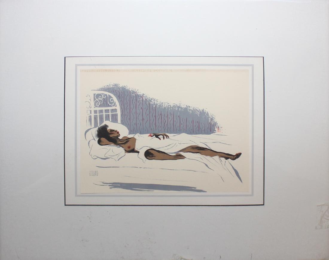 "Al Hirschfeld ""Cocoa Venus,"" from ""Harlem"" Portfolio"