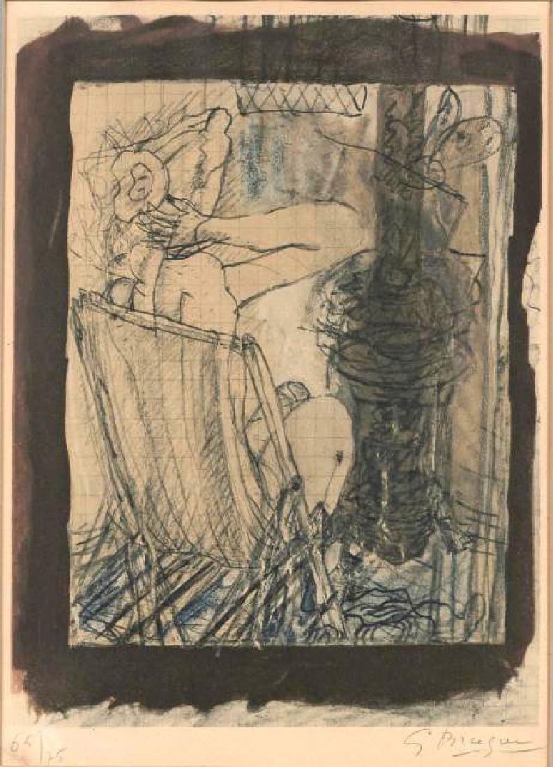 Georges Braque (After) - Femme en Chaise Longue