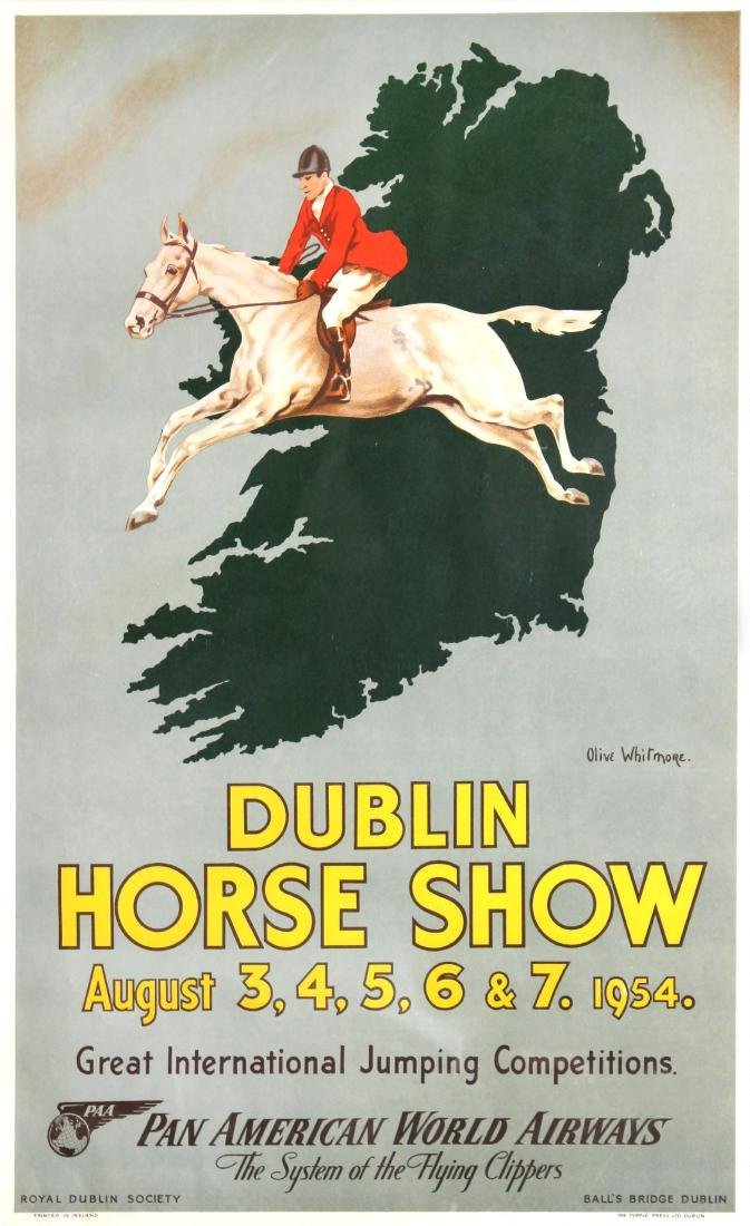 Dublin Horse Show Vintage Poster by Oliver Whitmore