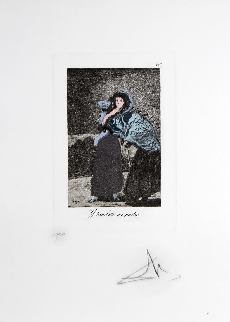 Salvador Dali - Les Caprices 16-Y Tambien Su Padre