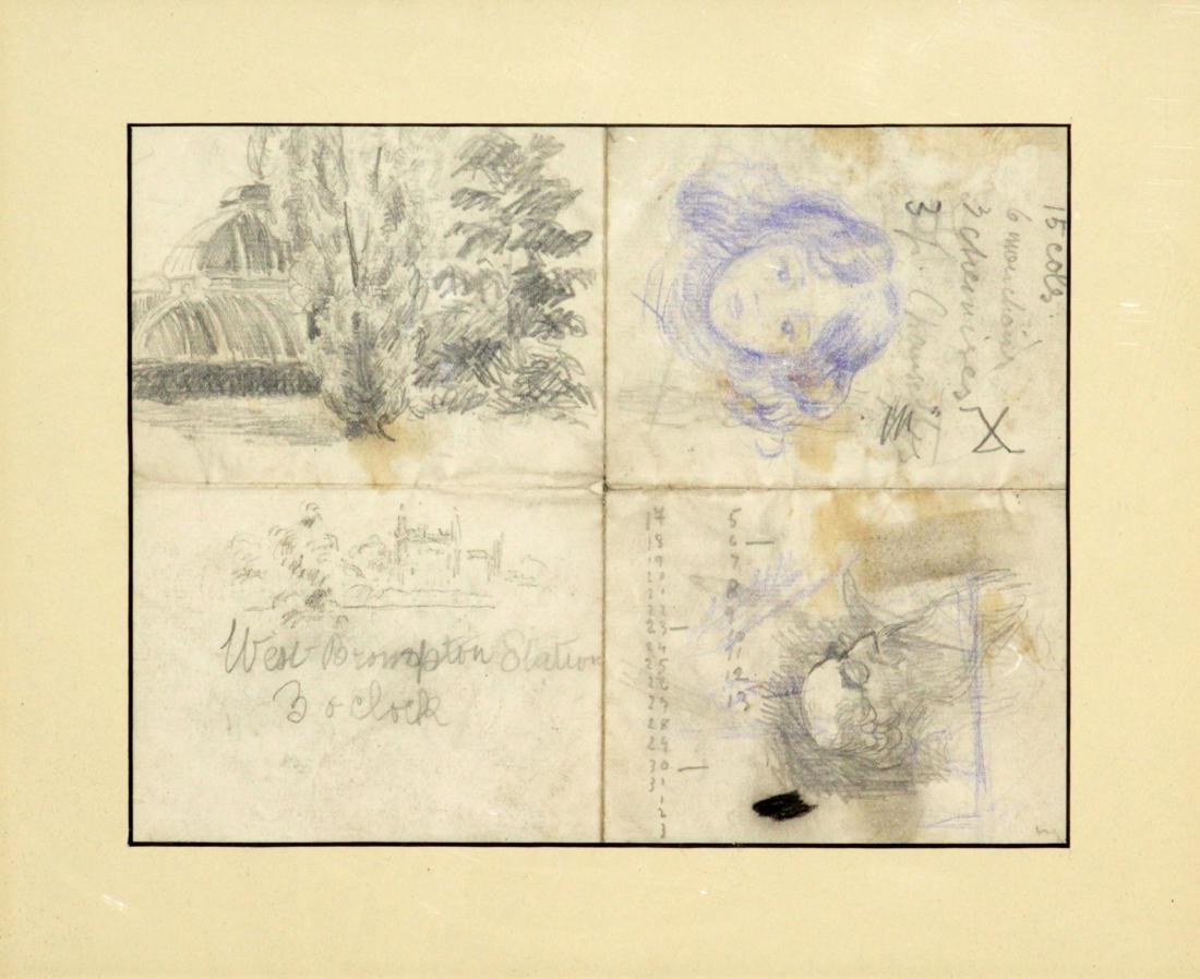 Camille Pissarro - Untitled Sketches