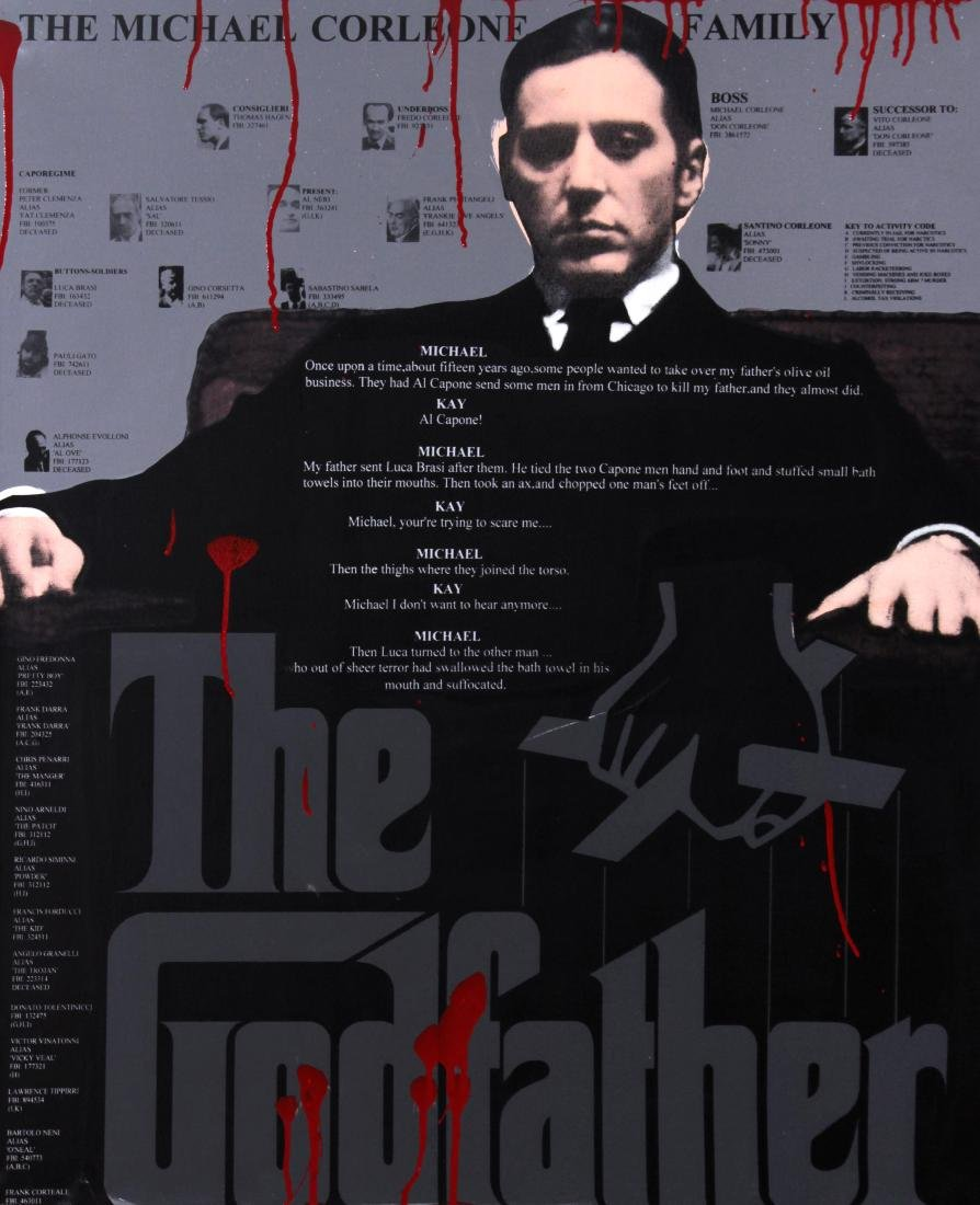Steve Kauffman - Al Pacino as the Godfather