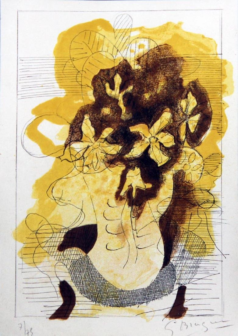 "Georges Braque (After) ""Les Jonquilles"" Hand signed & # - 2"