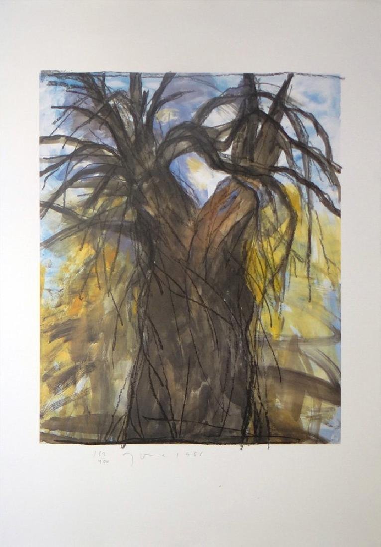 """JIm Dine """"The New Year's Tree"""" Orig Hand Signed Litho."""