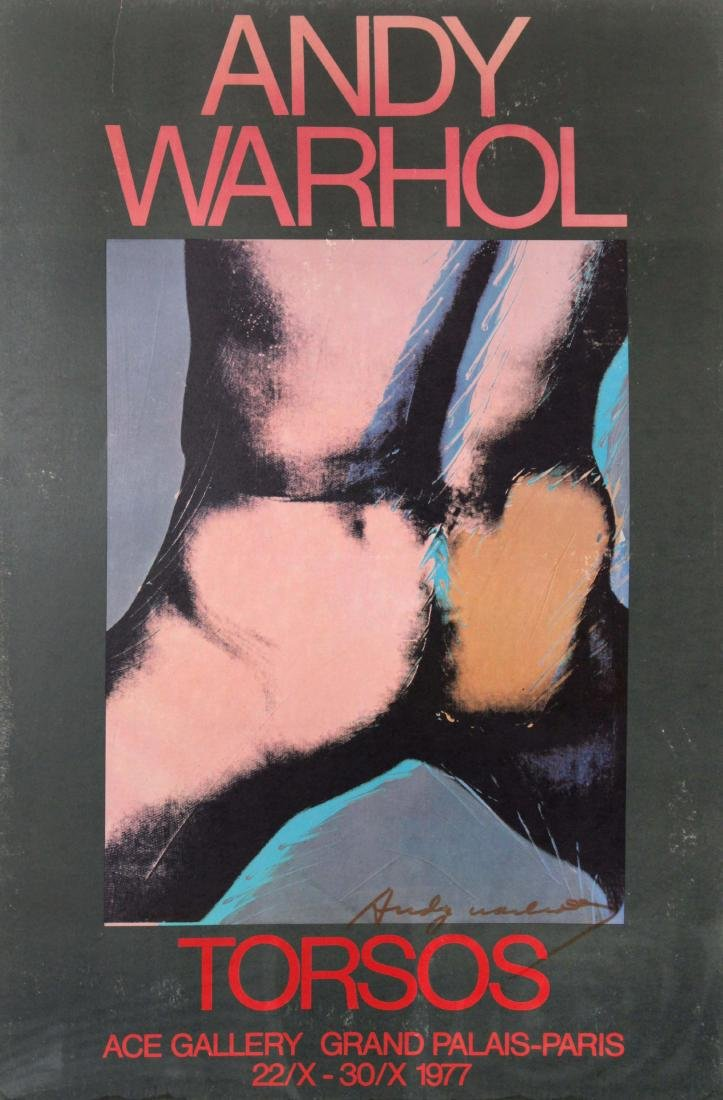 Andy Warhol - Torsos Hand Signed Poster