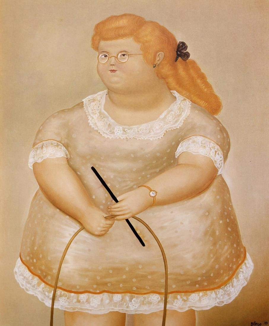 Fernando Botero (after) - Girl with a Hoop