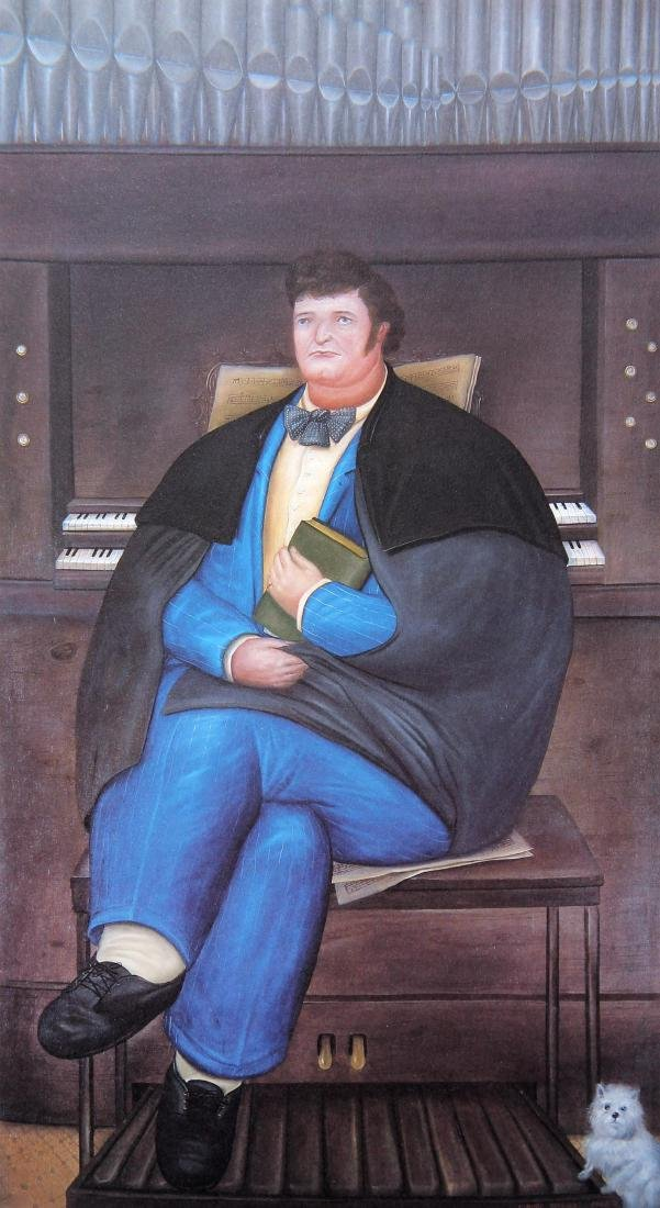 Fernando Botero (after) - Portrait of Claude Bernard