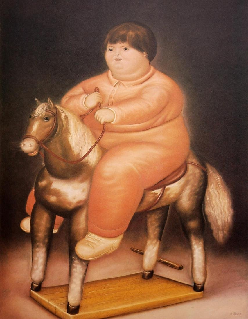 Fernando Botero (after) - Pedro on a Rocking-Horse