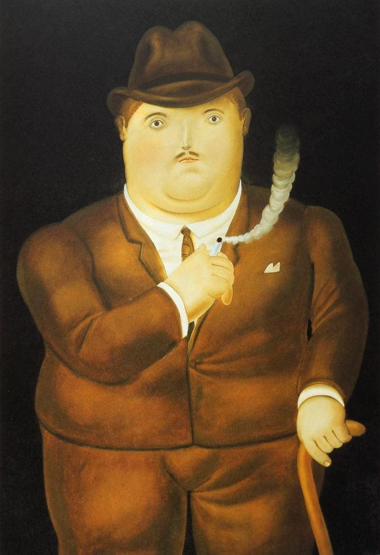 Fernando Botero (after) - Man Smoking