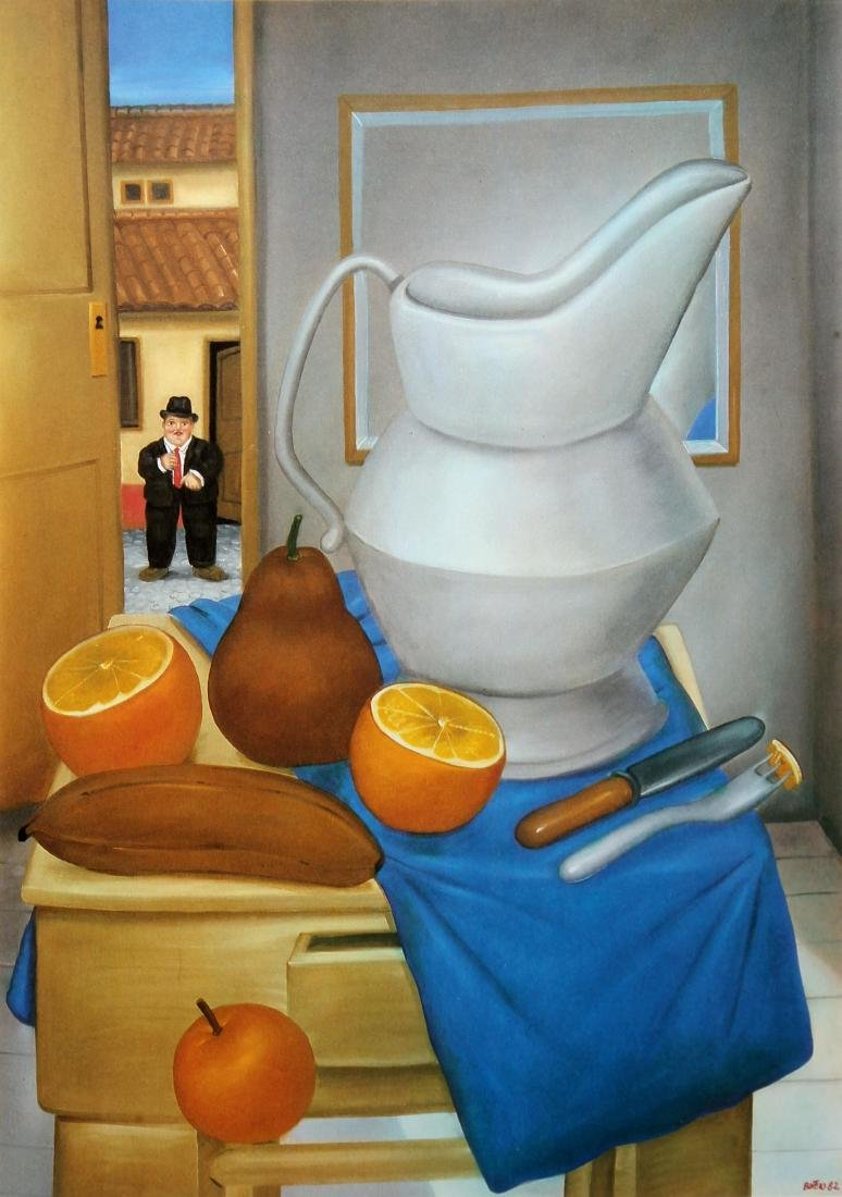 Fernando Botero (after) - The Falling Orange