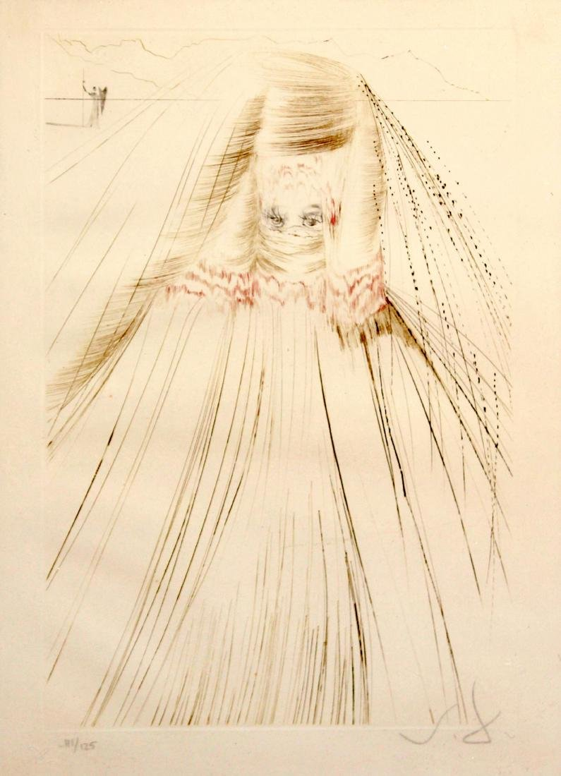 Salvador Dali - The Queen with a Silk Tunic