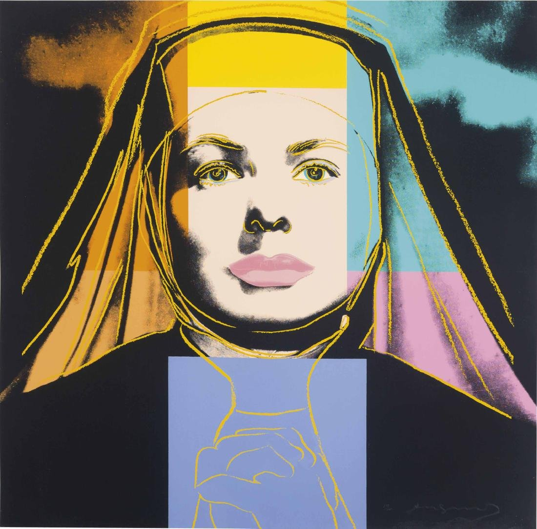 Andy Warhol - The Nun from Ingrid Bergman