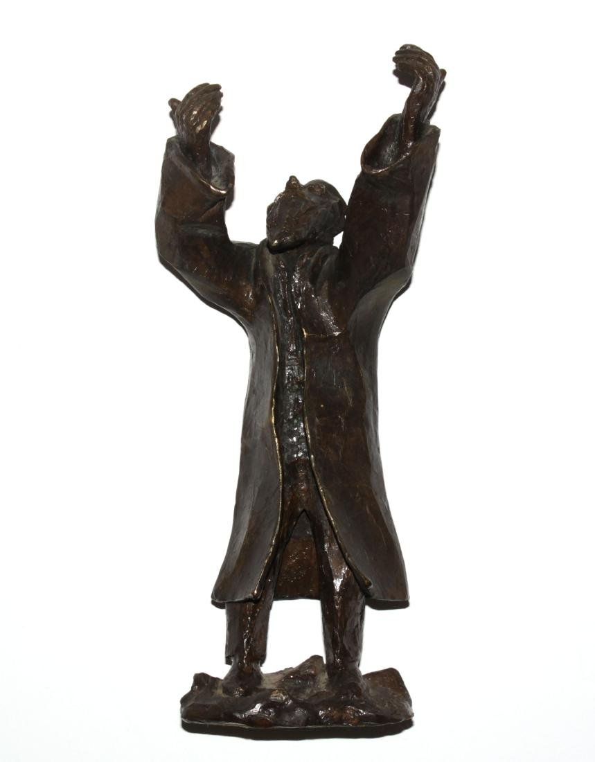 "Gizel Berman - Cast Bronze Rabbi Sculpture from ""Albums"