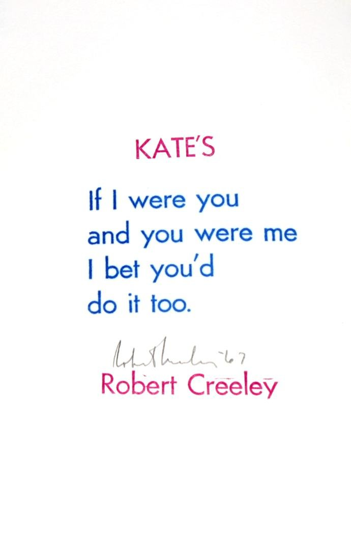 Robert Creeley - Kate's