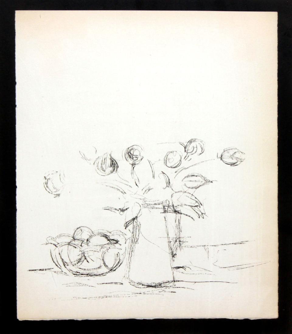 Alberto Giacometti - Bouquet et bol de fruits