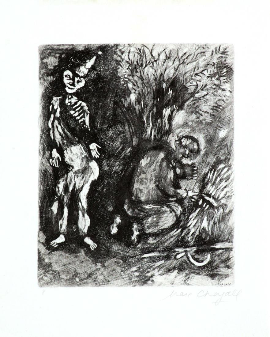 Marc Chagall - Death and Woodsman