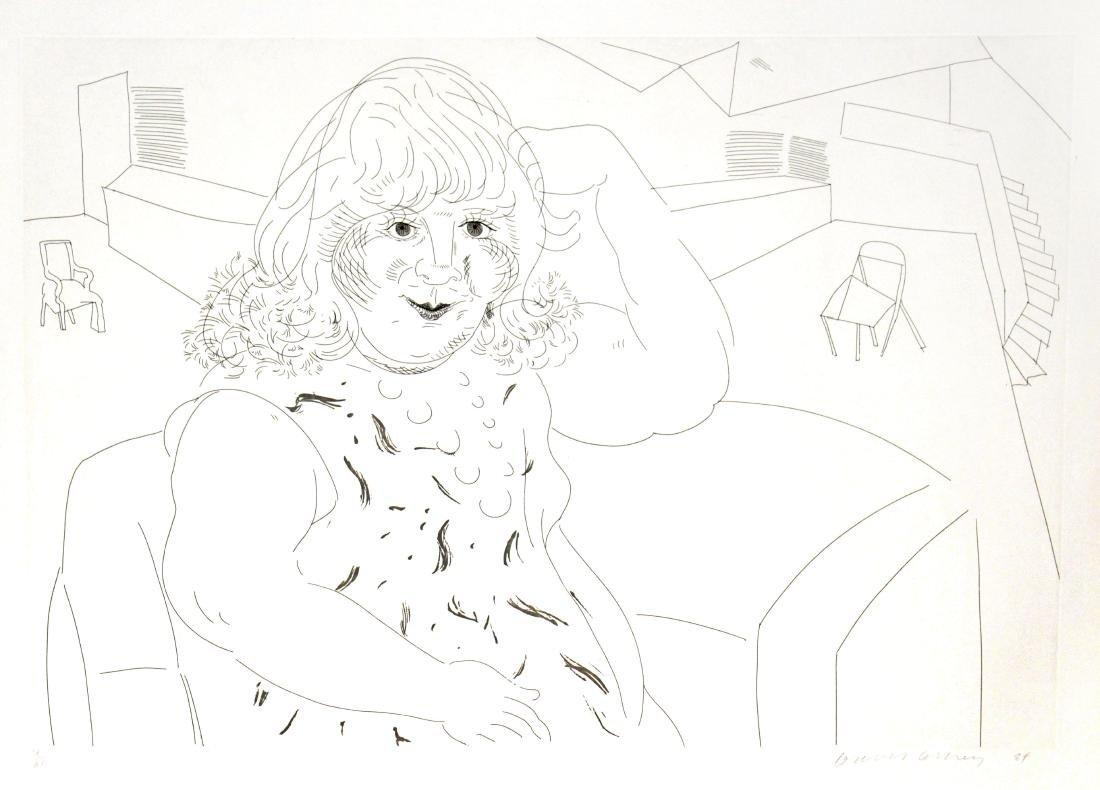David Hockney - Ann in the Studio
