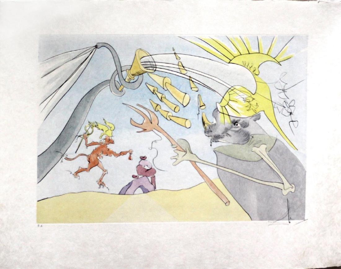Salvador Dali - The Elephant and Jupiter's Monkey