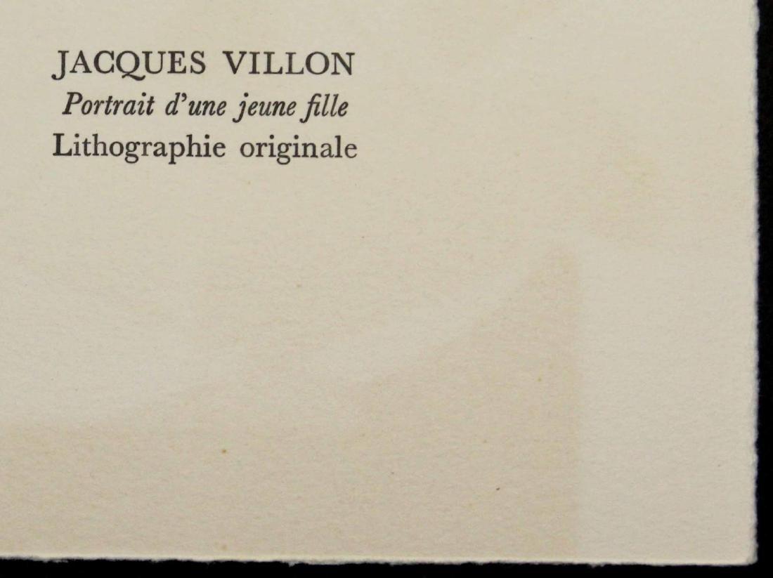 Jacques Villon - Portrait d'une jeune fille - 2