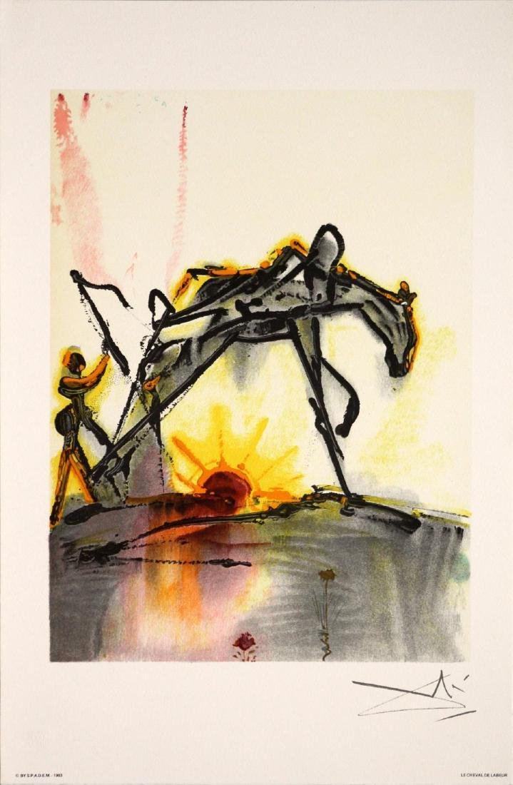 Salvador Dali (After)- The Horse of Labor