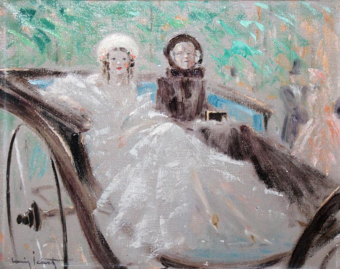 Louis Icart - In the Carriage