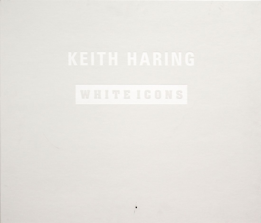 Keith Haring - White Icons Cover Portfolio and Tirage