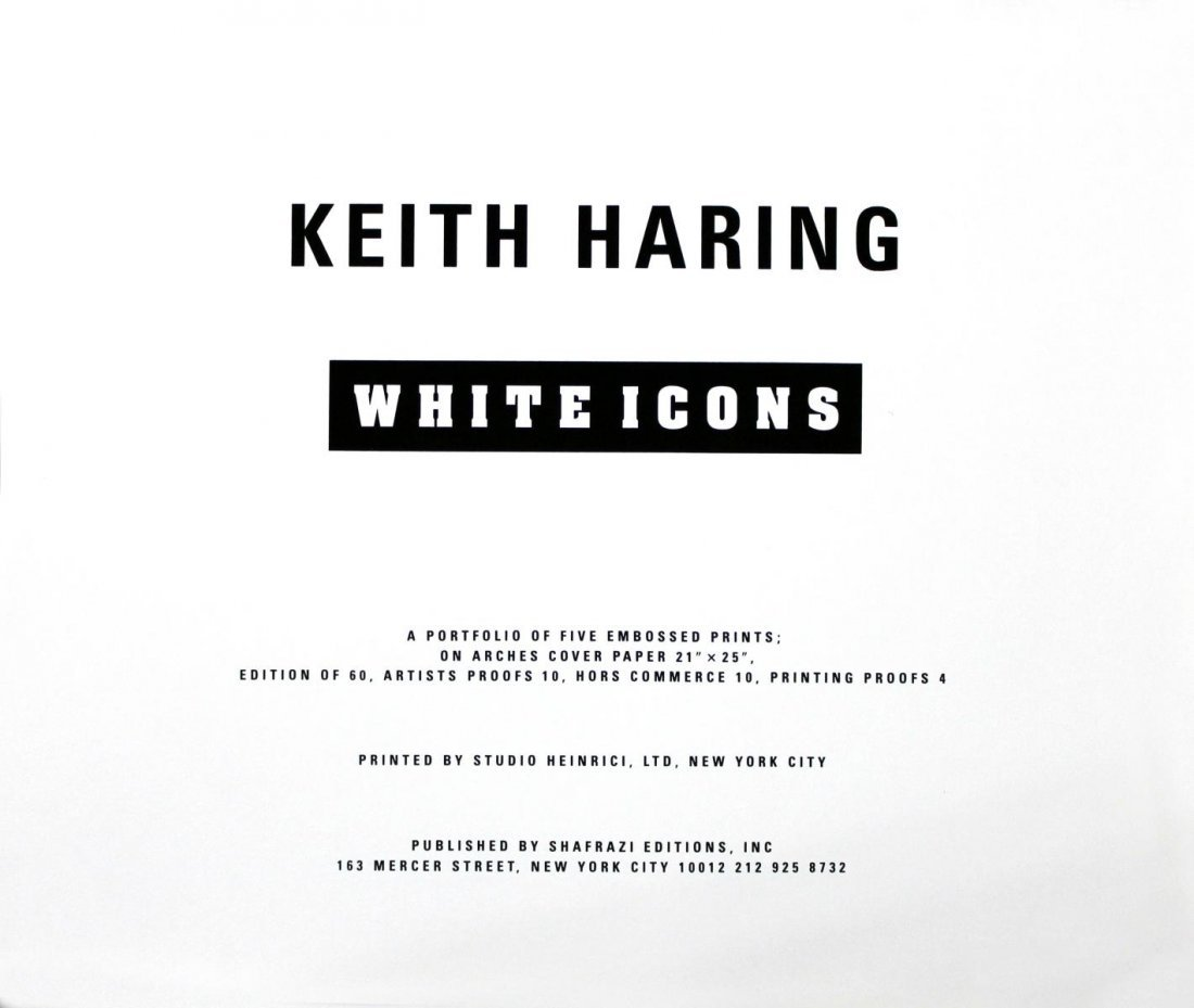 Keith Haring - White Icons Cover Portfolio and Tirage - 2
