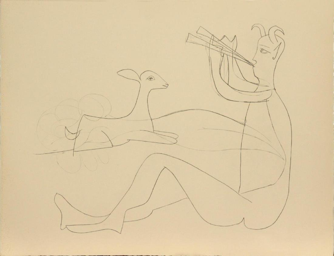 "Pablo Picasso - Untitled from ""Mes dessins d'Antibes"""