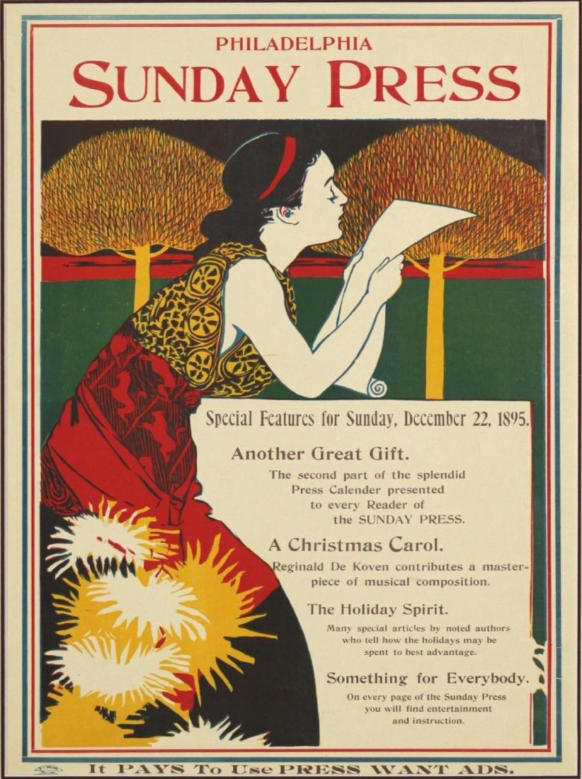 Vintage Poster - Philadelphia Sunday Press