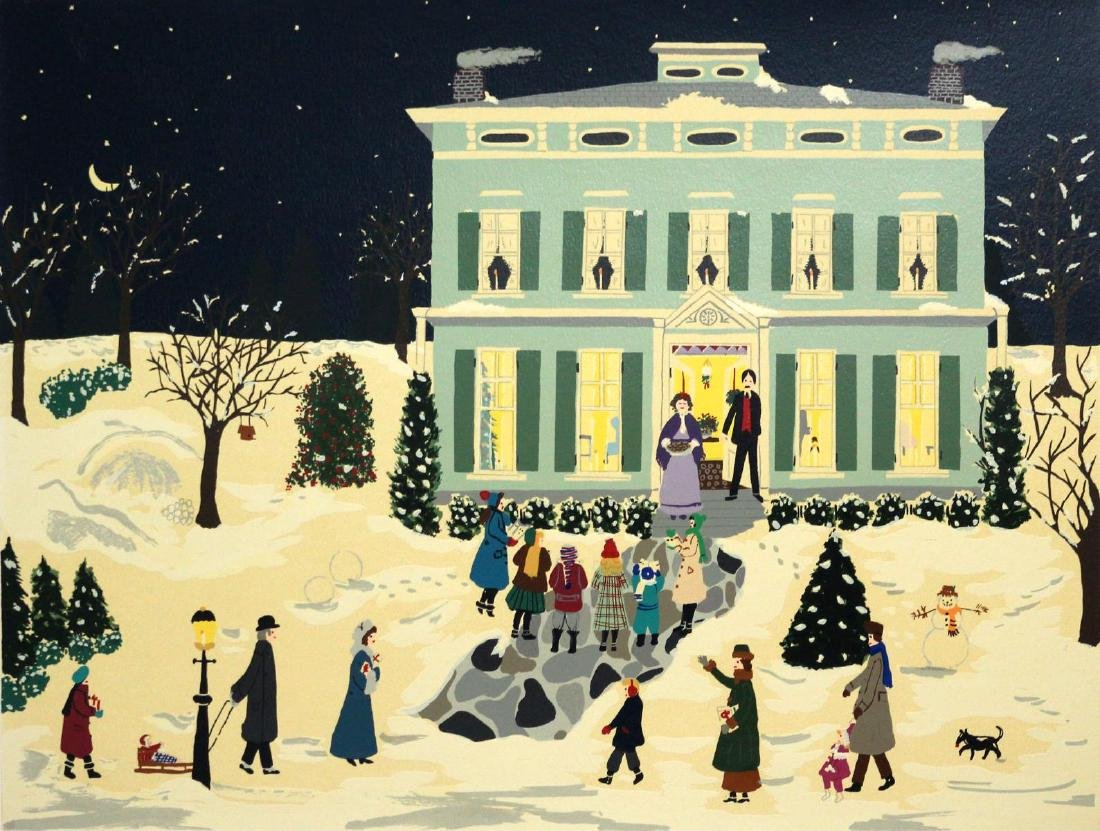 Jane Currie Clark - Christmas Carolers