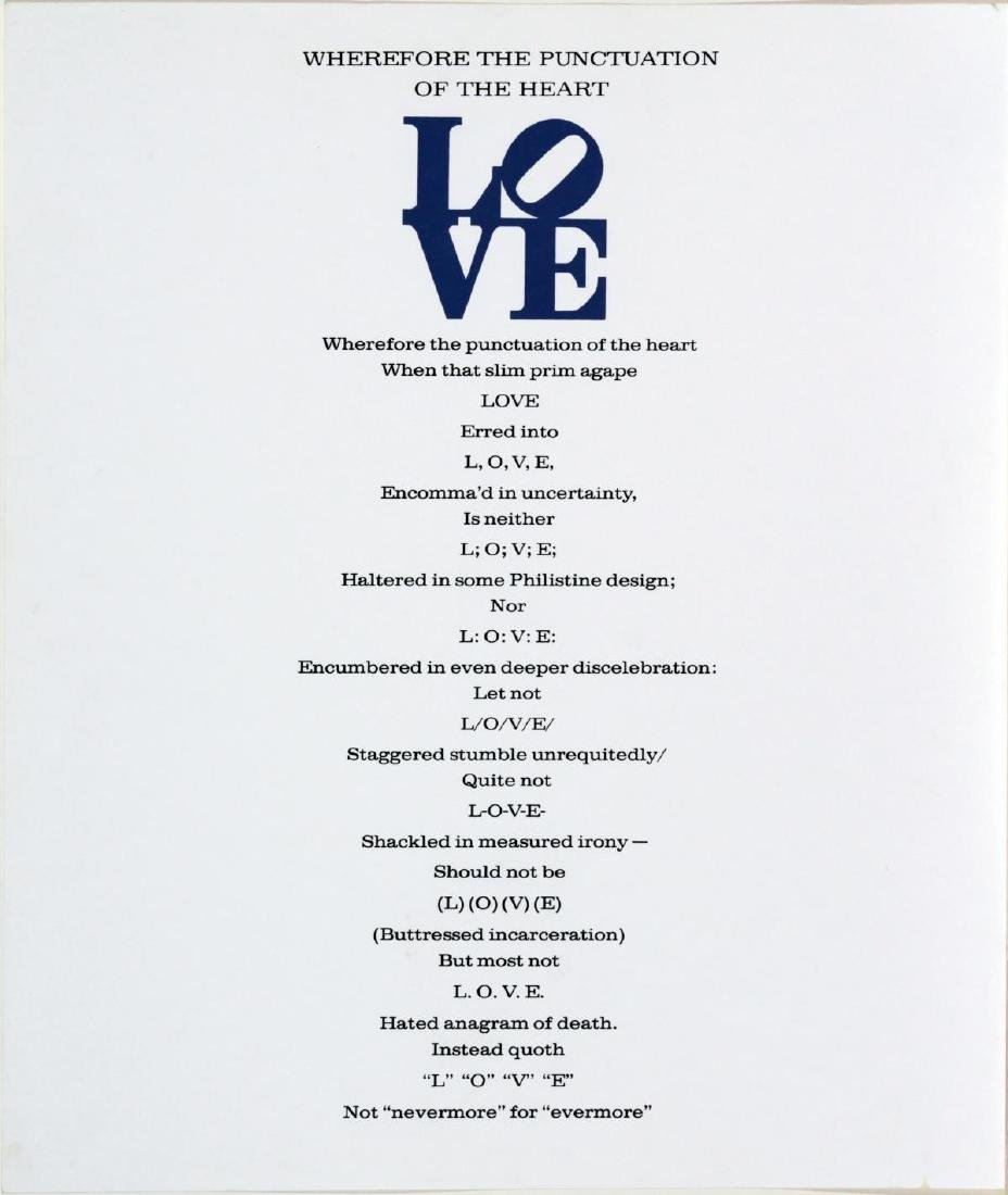 Robert Indiana - Wherefore the Punctuation of the Heart