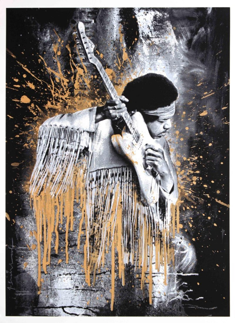 Mr. Brainwash - Hendrix (Gold)